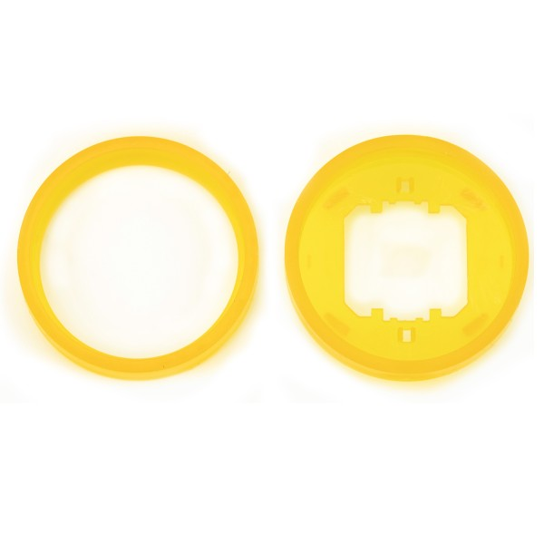 REV Ascoli Farbringe 4 Stück Ring Gelb 924918 für Lichtschalter oder Steckdose