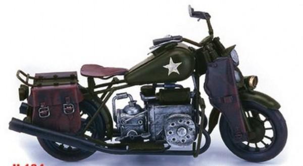 Nitsche - Blechmodell Motorrad WLA Bj. 1942 L 37cm (37134) Modellmotorrad