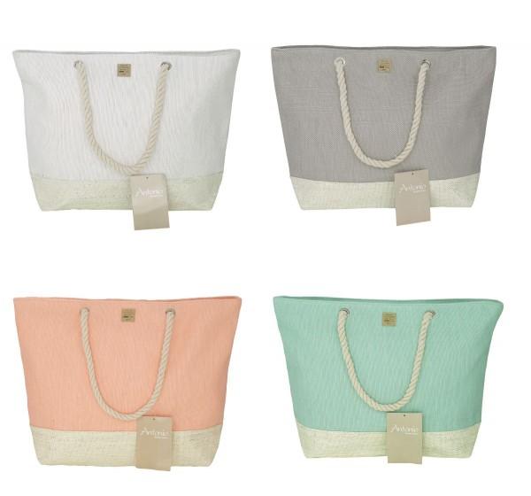 Farbauswahl - Strandtasche Weiß Grau Grün Apricot Badetasche Tasche Nr. 56-59