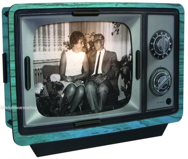 Werkhaus - TV Lampe blau (PP7208) Bilderrahmen Photorahmen Fotorahmen Wandlampe