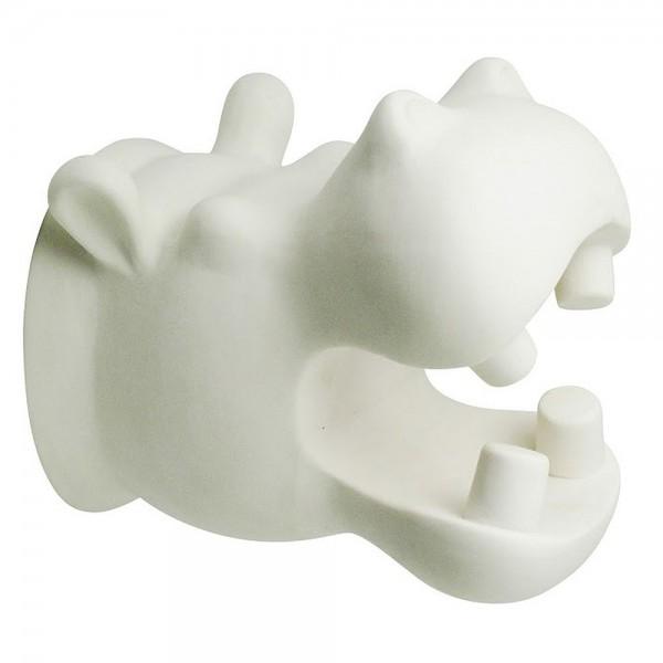Cabanaz - Wanddeko XL Hippo Weiß (1101412) Büste Tierkopf Nilpferd Tierkopfbüste