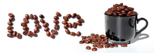 "Glasbild ""Kaffee-Love"" 93x33cm, Wandbild Bild Kaffeebild Küchenbild"