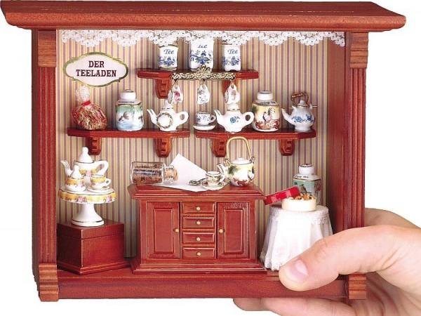 Reutter Porzellan Miniaturen - Wandbild Teeladen 20x15cm (1.700/9)