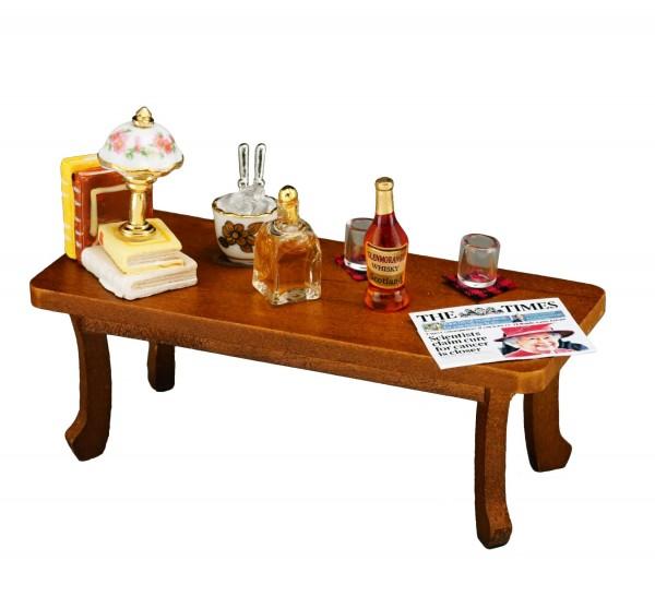 Reutter Miniaturen - Couch- Wohnzimmer- Tisch dekoriert (1.784/0) Puppenstube