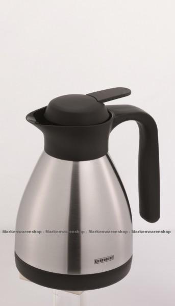 Leifheit - Isolierkanne Shine 0,6L (28505) Thermoskanne Kaffeekanne Edelstahl