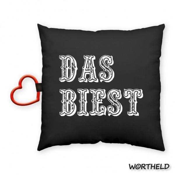 "Sheepworld - Wortheld Dekokissen Kuschelkissen Kissen ""DAS BIEST"" 43090"