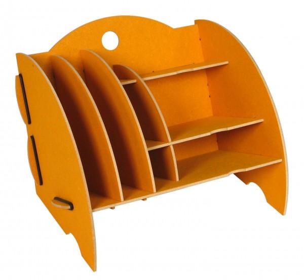 Werkhaus - Ablage Mini Organizer Gelb Briefablage Stiftehalter Box Schreibtisch