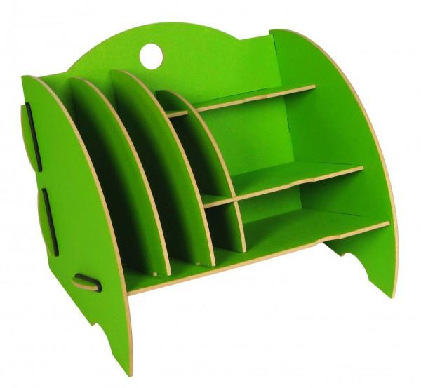 Werkhaus - Ablage Mini Organizer Grün Briefablage Stiftehalter Box Schreibtisch