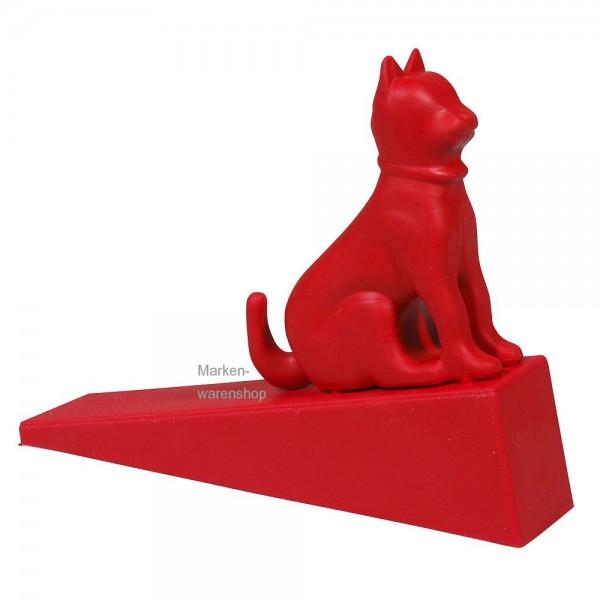Cabanaz the Zoo - Türstopper Katze aus Gummi rot (1101296) Türhalter Doorstopper