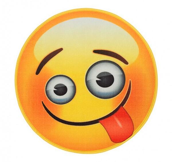 """Rockbites Teppich """"Emoji - Face Crazy"""" Ø 67cm Läufer Fuß- Schmutz- Matte 100926"""