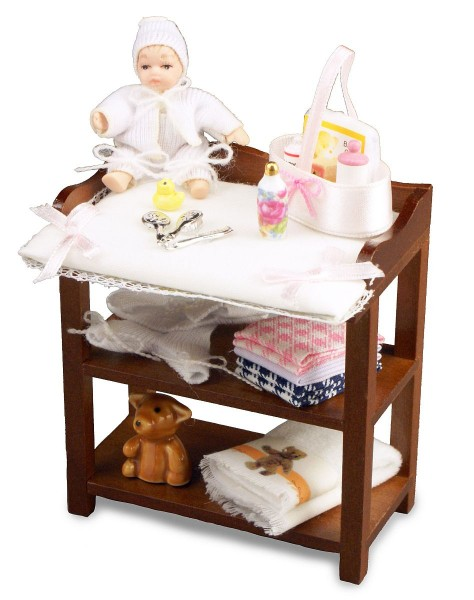 Reutter Miniaturen - Wickeltisch 1.752/1 Puppenstube Wickelkommode Kinderzimmer