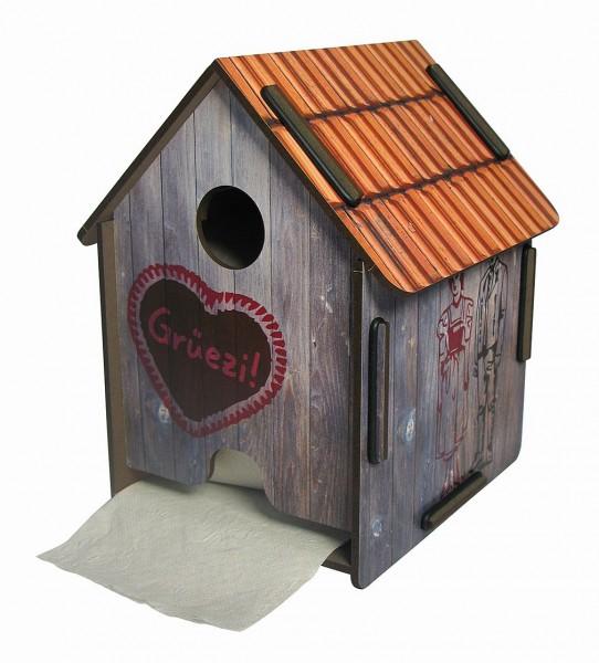 Werkhaus ToPa Haus Almhütte PP5106 WC Rollen- Klopapier- Toilettenpapier- Halter