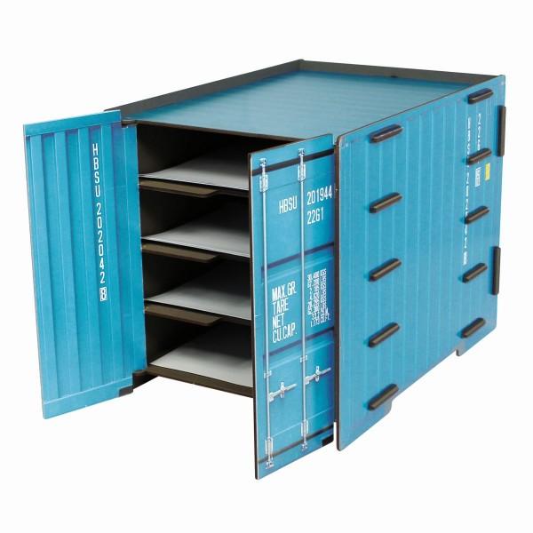 """Werkhaus Ablage """"Container"""" Türkis 4 Fächer DIN A4 Briefablage Ablagebox CO1083"""