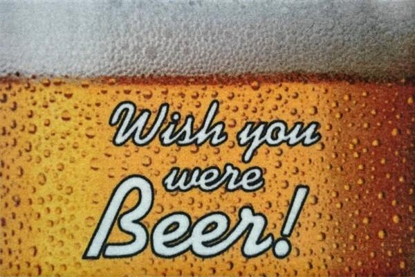 """Rockbites - Fußmatte """"Wish you were Beer"""" Türmatte Matte 100947 Nr.100 Bier"""