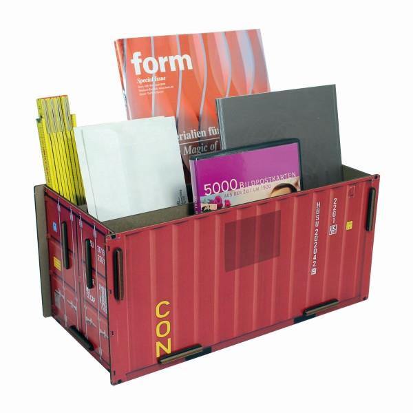 Werkhaus - Sorter Container Rot CO1402 Box Köcher Ablage Schreibtischzubehör