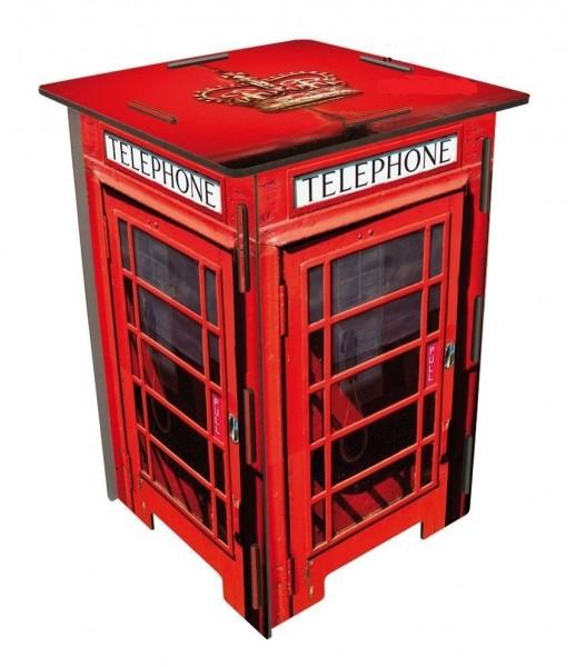 Werkhaus - Photohocker Hocker Telefonzelle London Rot SH8221 Sitz Sitzmöbel