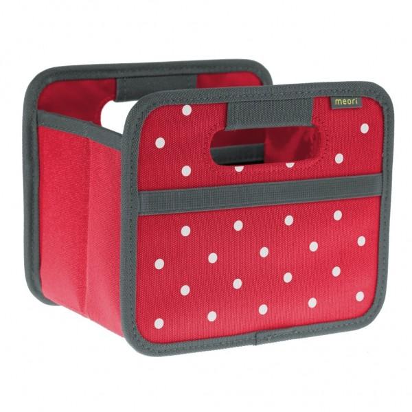 Meori - Faltbox Mini Aufbewahrungsbox Klappbox Hibiskus Rot Punkte A100301