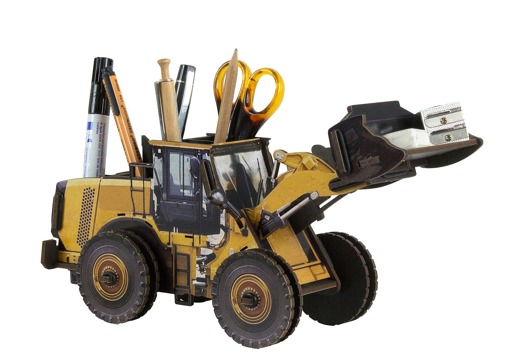 Stifte- Köcher Halter Baustelle Fahrzeug Werkhaus WE2054 Stiftebox Bagger