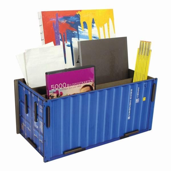 Werkhaus - Sorter Container Blau CO1401 Box Köcher Schreibtischzubehör Ablage