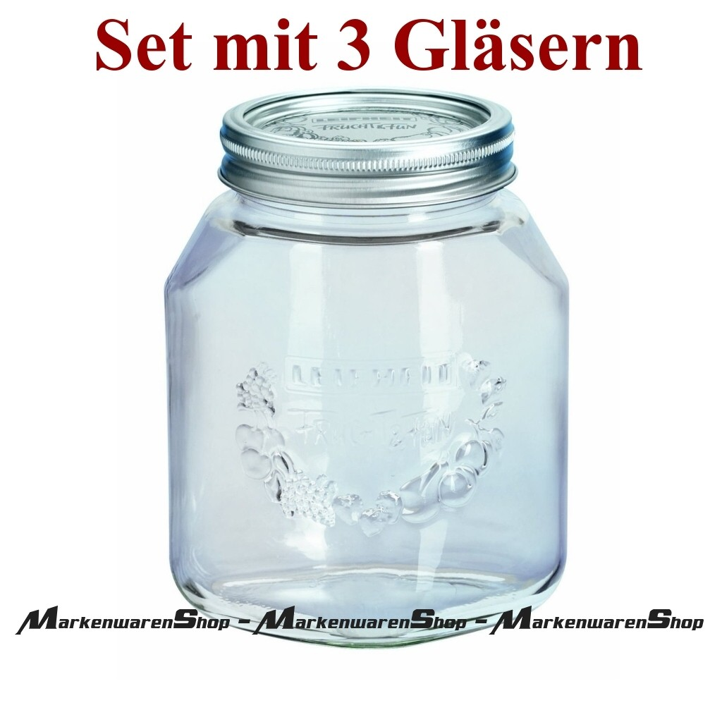 12 Stück Leifheit 36103 Einkochglas 0,5 Liter Einmachgläser