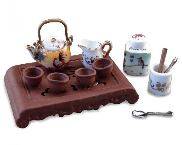 Reutter Porzellan Miniaturen - Teezeremonie Teeservice Asia 1.450/6 Puppenstube
