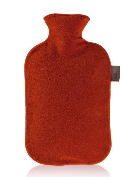 Fashy - Wärmflasche Flausch Vliesbezug Rot Bettflasche Fleecebezug