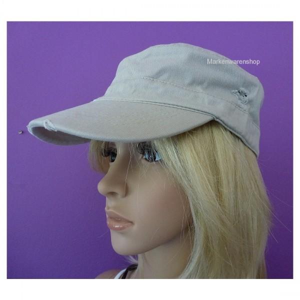 Markenwarenshop - Damen Herren Cap Beige Worker Army Armycap Kappe Mütze