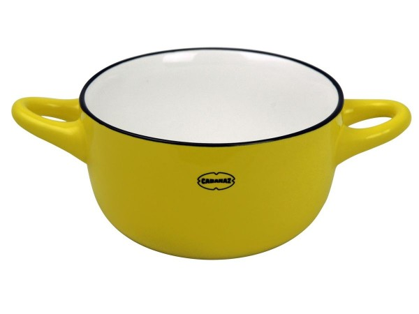 Cabanaz - Schüssel Keramik Gelb (1201714) Schale Müslischale Dessertschale Retro