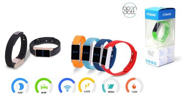 OVP Op3n Dott Fitband in der Farbe Grau mit USB - Ladekabel Fitness Armband