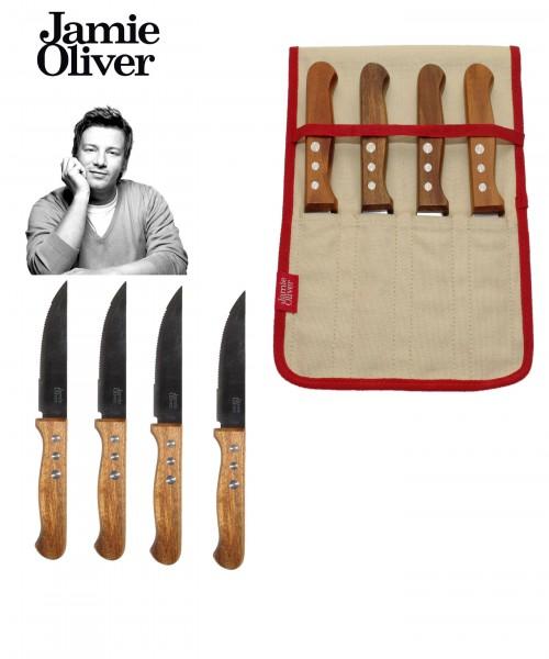 Jamie Oliver Steakmesser Set XXL Rustic Italian (5-teilig) 33535