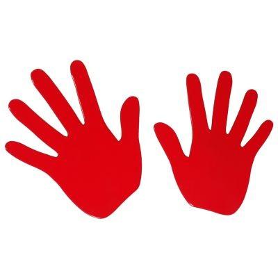 Cabanaz Wandhaken Hände - Rot