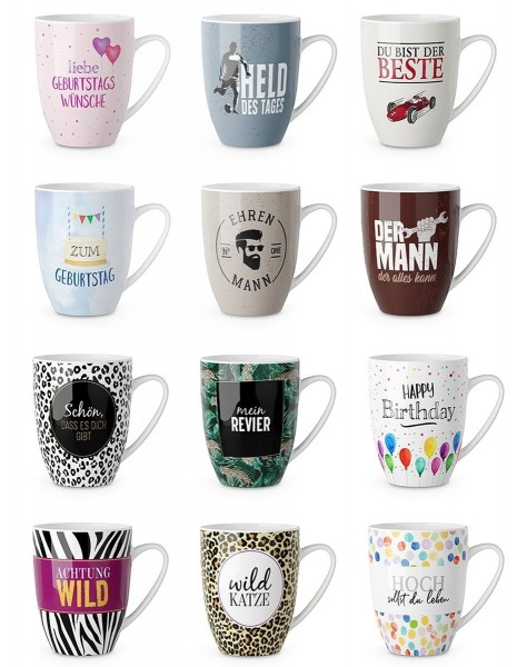 "Kaffeetasse Kaffeebecher Teetasse Kakao Tasse ""Becher für dich"" la vida 0,25L"