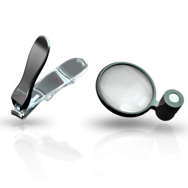 Genius - Nagelknipser 3D-Knipser, groß inkl. Lupe Valoo:me schwarz 11144