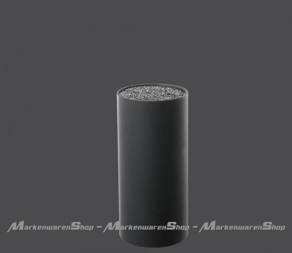 Zassenhaus - Messerblock rund schwarz mit flexiblem Borsteneinsatz (078008)