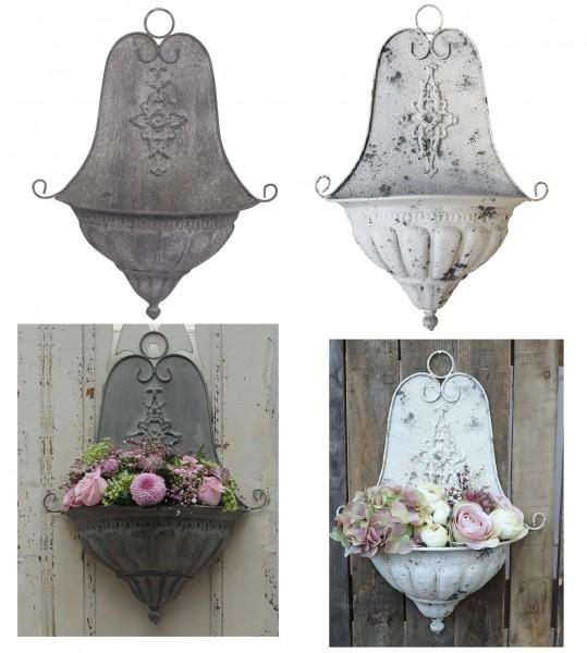 Alte franz. Wand-Blumenkasten Chic Antique Höhe 54cm