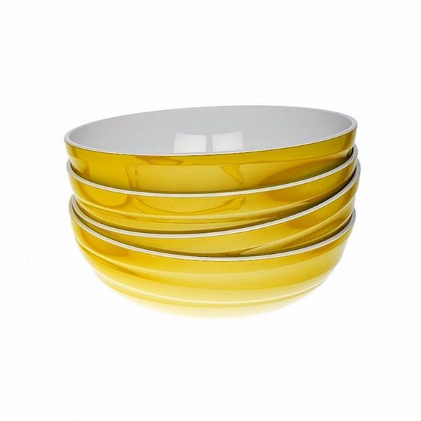Genius - Design Servierschüssel Salatschüssel Schüssel Set 4-tlg gelb 26103