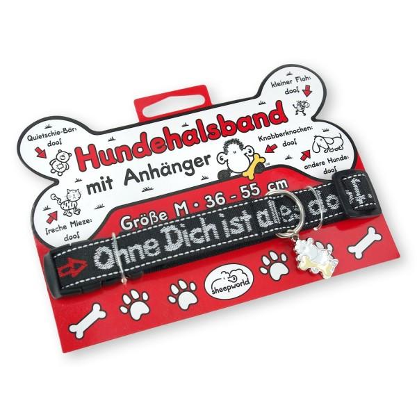 "Sheepworld - Hundehalsband ""ODIAD"" 42436 Halsband Hund ohne Dich ist alles doof"