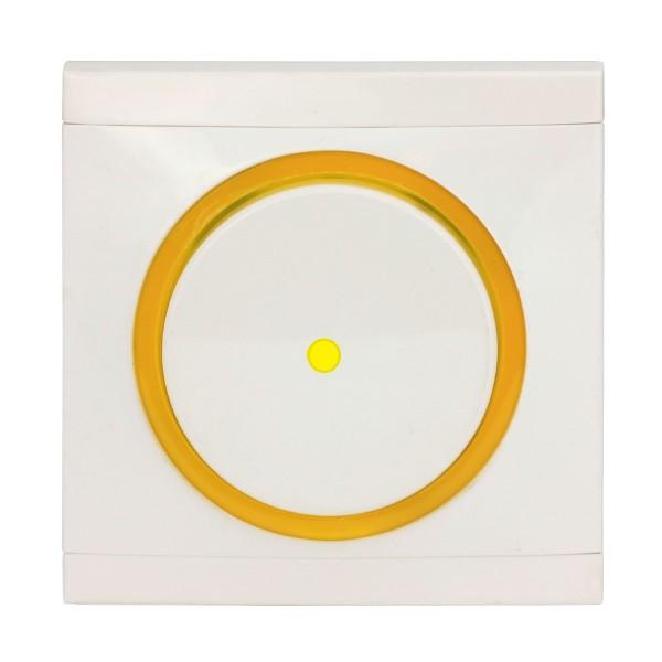 REV Ascoli weiß/gelb Kontroll-Wechselschalter inkl. Rahmen 924104 Lichtschalter