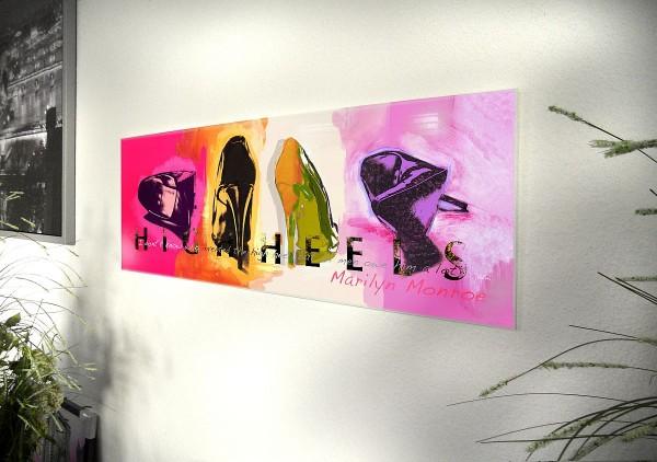 "Glasbild ""High Heels"" 95x33cm, Wandbild Bild 11195"