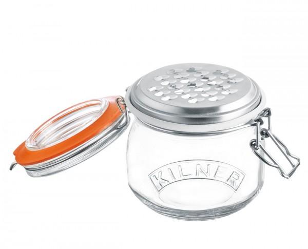Kilner - Reibe Aufsatz mit Vorratsglas dicht 0,5l Käsereibe Hobel Gemüse 0025841