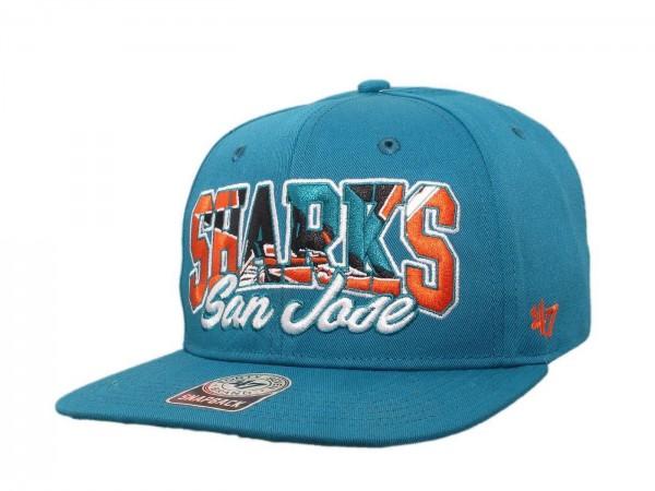 "47 Brand - NHL Cap Basecap Kappe Mütze Eishockey ""San Jose Sharks"" (Nr. 123)"