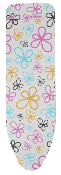 "Leifheit - Bügelbezug Cotton ""Fancy Flowers"" L 130x45 Bügelbrettbezug 71599"