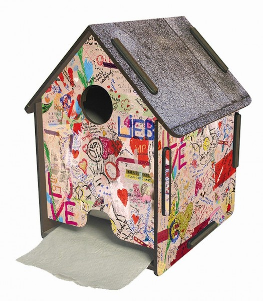 Werkhaus ToPa Haus Graffiti PP5111 WC Rollen- Klopapier- Toilettenpapier- Halter