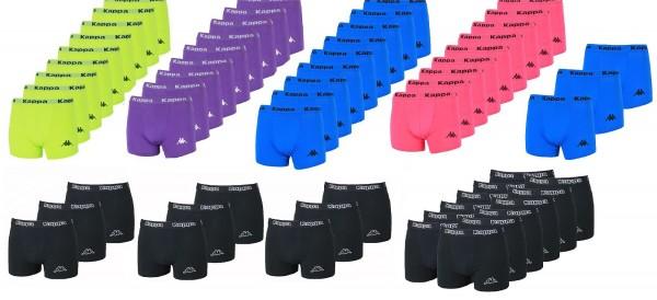 Kappa 3er - 12er Set Boxershorts S - XXL Uni-Farben Herren Boxer Unterhosen Slip