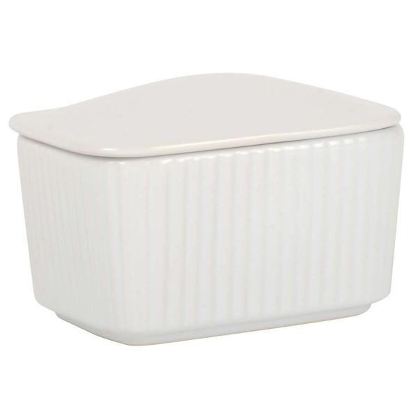 Laursen - Salztruhe Mynte Weiß (2097-11) Salzstreuer Salztopf Zuckerdose Shabby