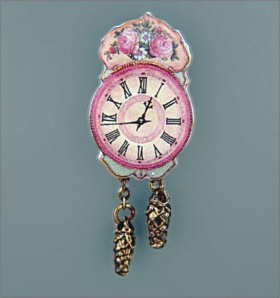 Reutter Porzallan Miniaturen - Nostalgie-Wanduhr Uhr 1.405/5 Puppenstube Wanduhr