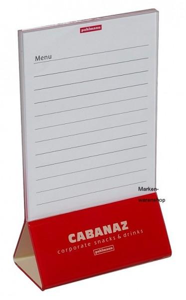 Cabanaz - Menükartenhalter in Rot, Speisekartenhalter Eiskartenhalter