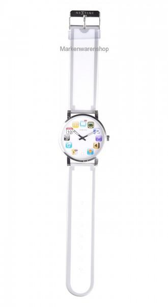 """Nextime - Armbanduhr """"Wrist Pad"""" Weiß (6010wi) Uhr Watch Wristpad"""