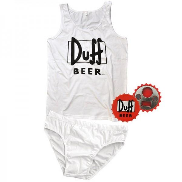 The Simpsons - Männer Unterwäsche Set Duff Beer mit Flaschenöffner L