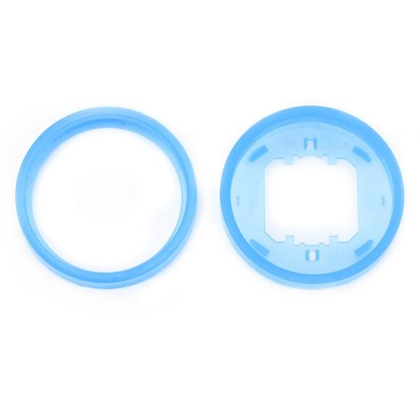 REV Ascoli Farbringe 4 Stück Ring Blau 924912 für Lichtschalter oder Steckdose
